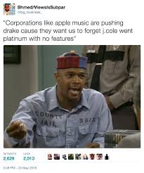 Cole Meme - bhmed s tweet 3 j cole went platinum with no features know