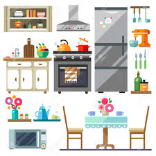 home furniture kitchen interior design set of elements