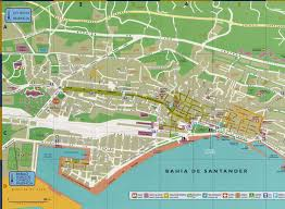 San Sebastian Spain Map by Large Santander Maps For Free Download And Print High Resolution