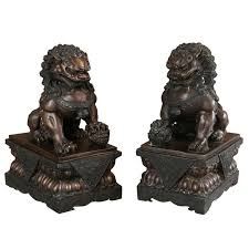antique bronze lion antique bronze foo lion dog pair for sale at 1stdibs