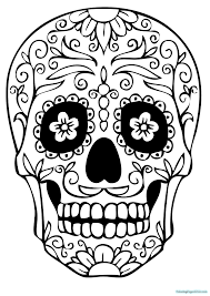sugar skull coloring pages coloring pages for