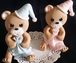 baby bear cake topper baby shower bear blue bear topper baby