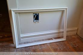 How To Fit Cornice To Ceiling How To Install Picture Frame Moulding The Easiest Wainscoting