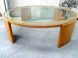 Large Round Coffee Table by Glass Top Oak Coffee Table Coffee Tables Thippo
