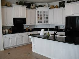 black kitchen cabinets with white countertops inspirations granite