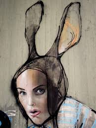free images woman decoration portrait carnival spray color artwork mouth street art urban art hare face eyes mask figure sketch drawing creativity head lips mural murals costume wall painting