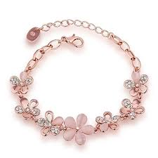 rose crystal bracelet images Ethnic khazana jewellery rose gold plated crystal bracelet bangle jpg