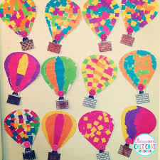 such a cute art project for spring air balloon mosaic