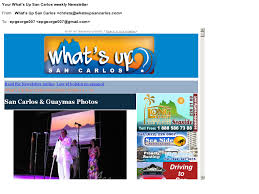 to subscribe to the san carlos newsletter go to http