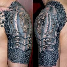 breast cancer tattoo design on shoulder back