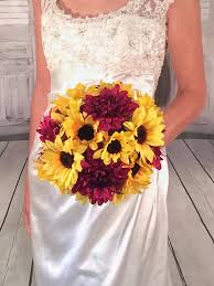 wedding flowers quotation quotes about wedding sunflower bouquet burgundy dahlia