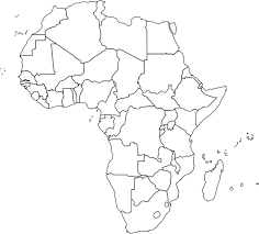 africa map black and white africa political map outline africa map