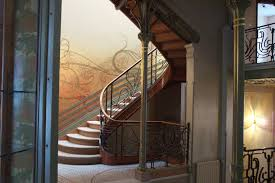 interior beautiful art nouveau stairs style design with art