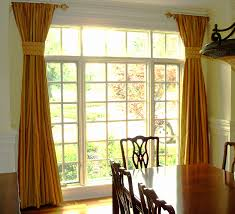 Yellow Drapery Decorating Yellow And Gold Drapery Panels For Home Decoration Ideas