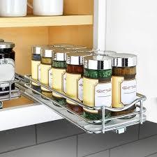 kitchen cabinet storage target lynk professional slide out spice rack cabinet organizer 4 wide