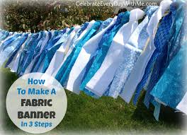 how to make a fabric banner in 3 steps celebrate every day with me