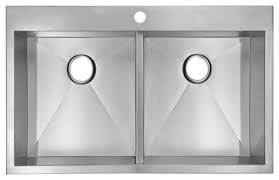 X  Single Basin Top Mount Stainless Steel Kitchen Sink - Single or double bowl kitchen sink