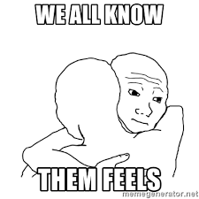 Them Feels Meme - we all know them feels i know that feel bro blank meme generator