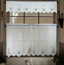 aliexpress com buy embroidery valance sheer short tulle window