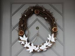 make your own thanksgiving door wreath diy