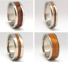 Wedding Ring Metals by Custom Engraved Wedding Bands Made From Exotic Woods And