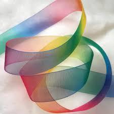 organza ribbon free shipping by epacket 25mm colorful rainbow organza ribbon