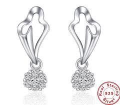 beautiful earrings 100 925 sterling silver earrings for women brand new