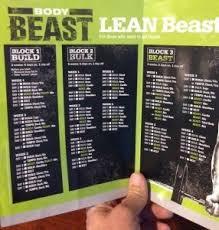 body beast workout schedule downloadable workout calendar