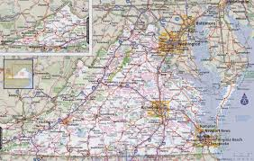 virginia map virginia road map