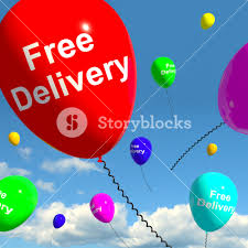 delivery of balloons free delivery balloons showing no charge or gratis to deliver
