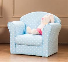 Personalized Kid Chair Toddler Armchair Blue Color Living Room Ideas Toddler Armchair