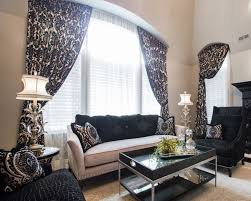 White And Beige Bedroom Remarkable Black White Damask Pattern Bedroom Window Treatment