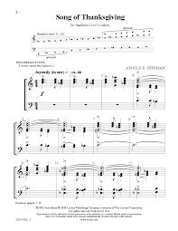 song of thanksgiving by sherman a j w pepper sheet
