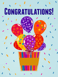 congratulations card happy balloons congratulations card birthday greeting cards by