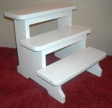 white step stool halifax 2step wood bed step stool with 200 lb