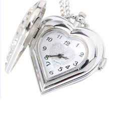 necklace watch images Fashion silver hollow quartz heart shaped pocket watch necklace jpg