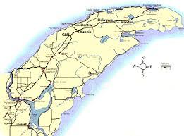 map of calumet michigan map of ghost towns in the peninsula of michigan