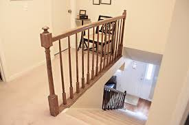 Restaining Banister How To Paint Stairway Railings Bower Power