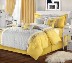 Yellow And Grey Bed Set Beautiful Grey And Yellow Bedding Sets Lostcoastshuttle Bedding Set