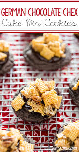 german chocolate chex cake mix cookies eazy peazy mealz