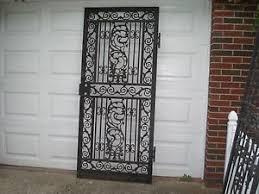 Steel Exterior Security Doors Vintage Iron Metal Exterior Security Screen Door Fits 36 Door Ebay