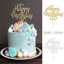 birthday cake topper 1x cake topper happy birthday gold silver glitter party wedding