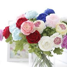 Faux Peonies 10pcs Rose Silk Flower Artificial Flowers Simulation Peony Flower