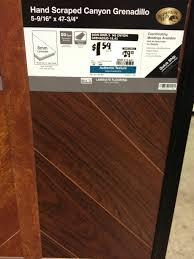 Laminate Flooring Home Depot Hand Scraped Canyon Grenadillo Laminate Flooring Home Depot