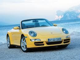 yellow porsche side view porsche 911 carrera 4 cabriolet 997 specs 2005 2006 2007