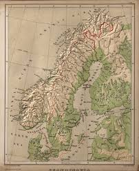Scandinavia Blank Map by Scandinavia David Rumsey Historical Map Collection
