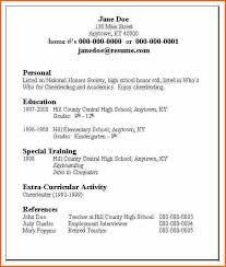 National Honor Society Resume Example 6 Basic Resume Examples Budget Template Letter