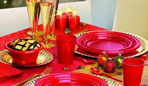 piatti e bicchieri di plastica colorati rosso passione coordinati colors in plastica colorata e