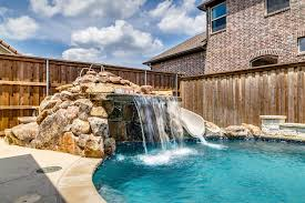 custom pool features dallas waterfalls plano sheer descents
