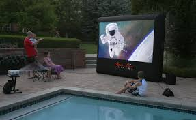 inflatable home theater system backyard projector home outdoor decoration